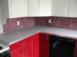 red tile backsplash kitchen red kitchen design awesome home design