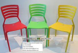 Green Bistro Chairs Monoblock Chairs And Monoblock Table Home Use Office Use And