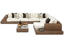 Extra Large Garden Furniture Covers - milano large rattan garden corner sofa