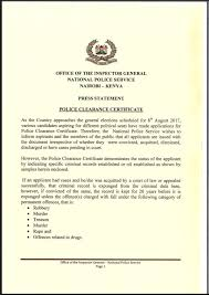 clearance certificate sample national police service kenya on twitter