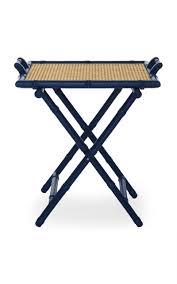 Panama Foldaway Luggage Rack Wood M U0027o Exclusive Blue Folding Wooden Table By Cabana Moda Operandi