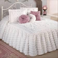 bedroom teenage bedroom design with white ruffle king size