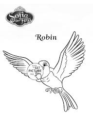 robin bird from sofia the first coloring page for kids disney for