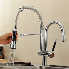 kitchen pull faucets solid brass pull out kitchen faucet brushed finish
