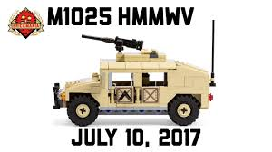 lego army humvee m1025 hmmwv custom military lego youtube