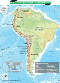 Maps Of South America South America Map Highlighting Andes Mountain Range Answers