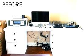 how to organize cables under desk hide a cord fiddlydingus club