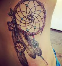 dreamcatcher tattoos for a good night sleep