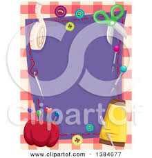 royalty free rf clipart of sewing materials illustrations