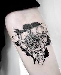 black and white flower tattoos 60