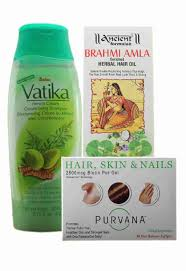 hair loss trio stop losing hair vatika shampoo brahmi amla hair oi
