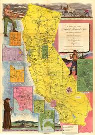 California Arizona Map by A Map Of The Marked Historical Sites Of California Compiled From