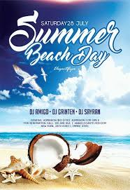 summer beach u2013 free flyer psd template facebook cover u2013 by