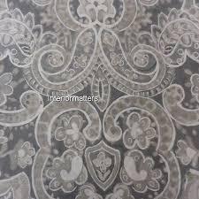 tahari bedding paisley medallion king duvet cover set grey silver