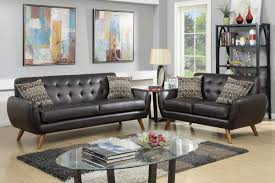 2 Piece Leather Sofa by Cosmo Brown Leather Sofa And Loveseat Set Steal A Sofa Furniture