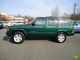 2000 green jeep cherokee 2000 forest green pearl jeep cherokee limited 4x4 43255132 photo