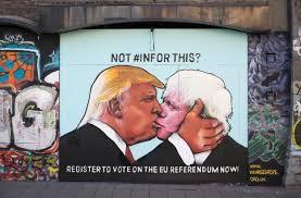 mural of donald trump kissing boris johnson appears in bristol mural of donald trump kissing boris johnson appears in bristol the independent