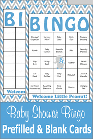 elephant baby bingo cards printable download prefilled baby