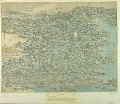 Bird View Map Mapcarte 209 365 Bird U0027s Eye View Of China By Katushika Hokusai