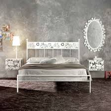 off white metal bed frame queen trends today white metal bed