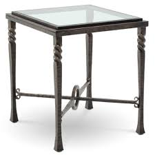 Glass End Tables Wrought Iron End Tables With Glass Tops Attractive On Table Ideas