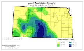 Kansas State Campus Map by Kansas Office Of The State Climatologist Weekly Maps