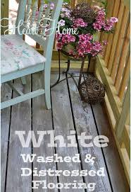 white washing u0026 distressing porch floor hometalk