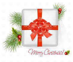 present red bow merry christmas vector image 4990 u2013 rfclipart