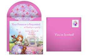 Greeting Cards For Invitation Plan A Royal Sofia The First Birthday Party