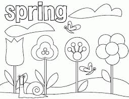 free printable spring coloring pages kids coloring