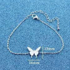 silver child charm bracelet images Cute children beautiful butterfly charm bracelet for girls kids jpg
