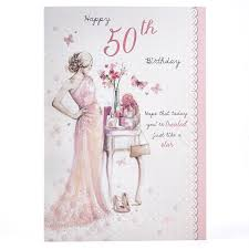 50th birthday cards 50th birthday card glamorous butterflies card factory