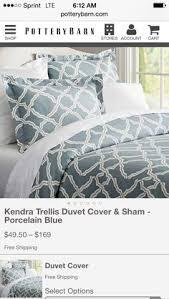 Porcelain Blue Duvet Cover Alana Medallion Duvet Cover U0026 Sham Porcelain Blue Pottery Barn