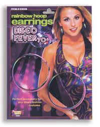 70 s earrings earrings rainbow disco hoop caufields