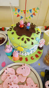 George Pig Cake Decorations Peppa Pig Cake Ideas Muddy Puddle Cake Birthday Party Cake