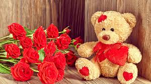 teddy valentines day photos s day heart roses flowers teddy 3840x2160