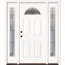 Feather River Exterior Doors Feather River Doors 67 5 In X 81 625 In Rochester Patina Fan