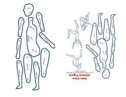 poseable jointed figure paper template dennis jordan