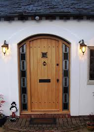 Exterior Doors Fitted Front Door With Stained Glass Panels Fitted Glass Panels Front