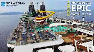 norwegian epic ship tour entire pool area 2017 youtube