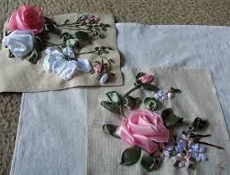 silk ribbon roses folded ribbon roses from di niekerk