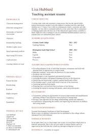 Sample Teacher Resume Template Teacher Assistant Resume Example Best Resume Collection