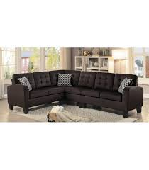Reversible Sectional Sofa by Sinclair Reversible Sectional Sofa Chocolate Fabric Maranatha