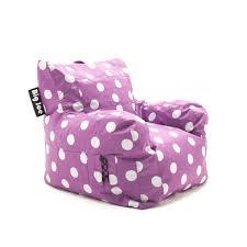 beansack big joe pink with white dots dorm bean bag chair free