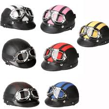 leather motorcycle helmet motorcycle helmet bike bicycle helmet scooter open face half