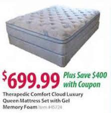 Dealigg Barnes And Noble Black Friday Deal Therapedic Comfort Cloud Queen Size Mattress Set