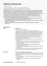 Examples Of Core Competencies For Resume by Nursing Cv Examples And Template