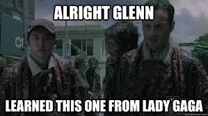 Glenn Walking Dead Meme - walking dead rick and glenn memes quickmeme