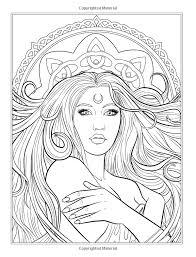 image detail coloring stunning elf queen