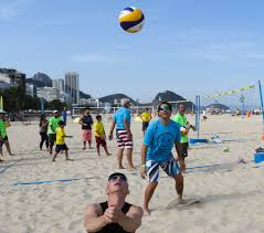 fivb volleyball legends entertain crowds at showcase copacourts